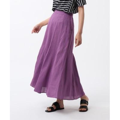 UNTITLED(アンタイトル) ◆【洗える】ふんわり 麻マーメイドスカート