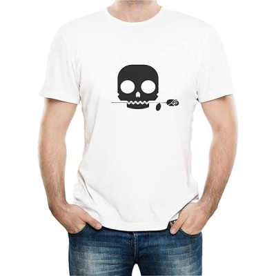 tシャツ メンズ おもしろtシャツ 半袖tシャツ プリント 髑髏 ローズ 夏服 シンプル オリジナル ファッション トップス(s2103101728)