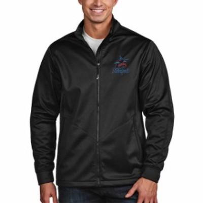 Antigua アンティグア スポーツ用品  Antigua Miami Marlins Black Golf Full-Zip Jacket