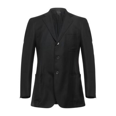 TOMBOLINI テーラードジャケット ブラック 54 バージンウール 100% テーラードジャケット