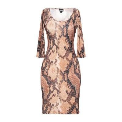 ジャストカヴァリ JUST CAVALLI ミニワンピース&ドレス ブラウン 42 レーヨン 95% / ポリウレタン 5% ミニワンピース&ドレス