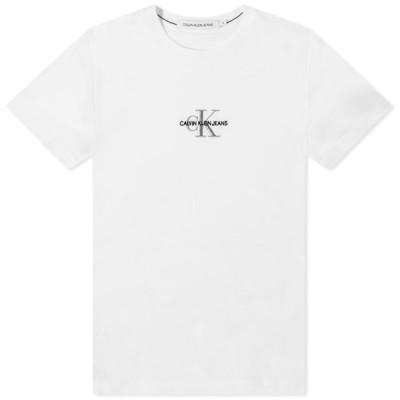 カルバンクライン Calvin Klein メンズ Tシャツ トップス New Iconic Essential Tee Bright White