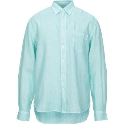 120パーセント 1.2 メンズ シャツ トップス Linen Shirts Light green