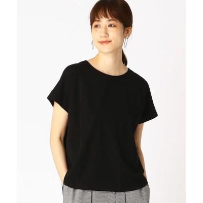 COMME CA ISM/コムサイズム 切り替えTシャツ ブラック L