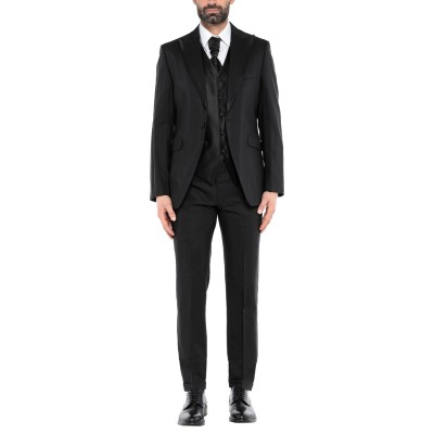 サルトル SARTORE スーツ ブラック 52 レーヨン 58% / バージンウール 42% スーツ