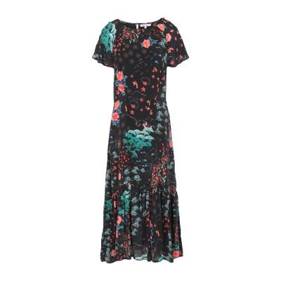 LILY AND LIONEL 7分丈ワンピース・ドレス ブラック XS レーヨン 100% 7分丈ワンピース・ドレス