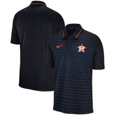 ナイキ メンズ ポロシャツ トップス Houston Astros Nike Game Stripe Raglan Sleeve Polo Navy