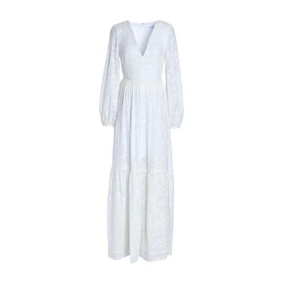 NICHOLAS ロングワンピース&ドレス ホワイト 2 コットン 70% / シルク 30% ロングワンピース&ドレス