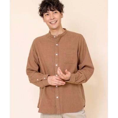 【コーエン】 ウィンターリネンバンドカラーシャツ# メンズ BEIGE X-LARGE coen