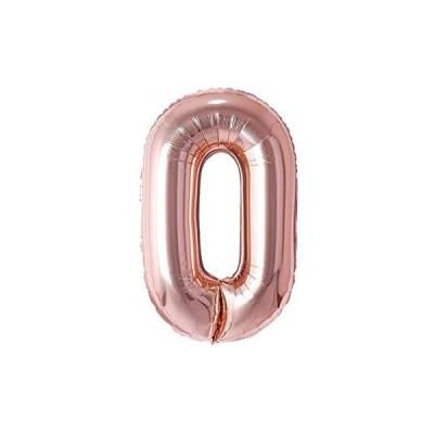 誕生日 バルーン 数字(0-9)風船 ローズゴールド (ローズゴールド)