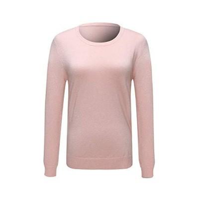 並行輸入品N /A レディース ラウンドネック ゆったり 万能ファッションセーター US サイズ: Medium カラー: ピンク