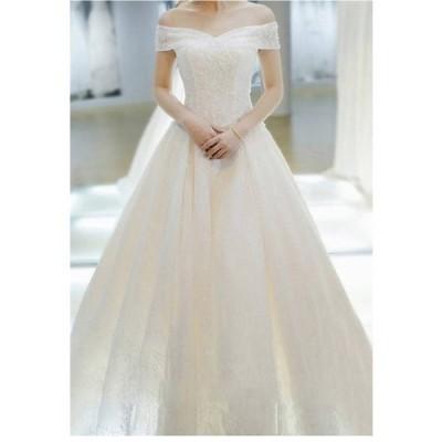 ウェディングドレスドレス結婚式二次会ホワイト花嫁ウェディングエンパイア白ドレスロングドレス披露宴4点セット