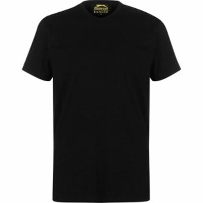 スラセンジャー バンガー Slazenger Banger メンズ Tシャツ トップス Plain T Shirt Black