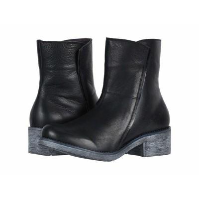 ナオト ブーツ&レインブーツ シューズ レディース Hipster Soft Black Leather/Black Madras Leather