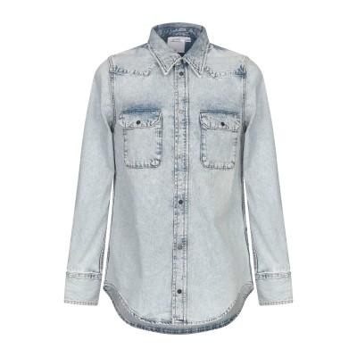 YOOX - CALVIN KLEIN JEANS デニムシャツ ブルー M コットン 100% デニムシャツ