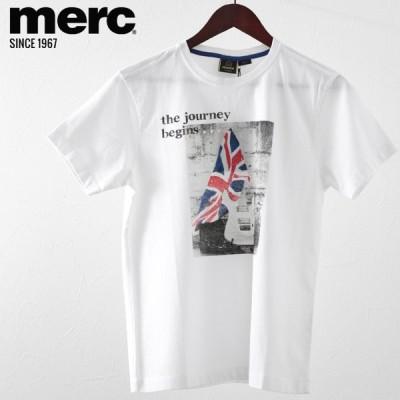 メルクロンドン Merc London Tシャツ ユニオンジャック ギター W1 プレミアム ホワイト メンズ