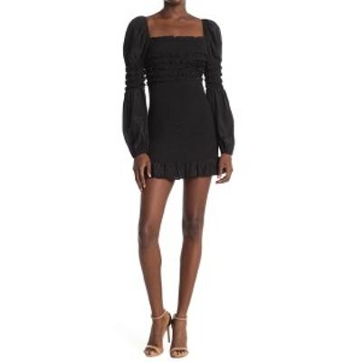 ドゥ アンド ビー レディース ワンピース トップス Square Neck Smocked Detail Dress BLACK