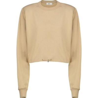 フランキー ショップ Frankie Shop レディース スウェット・トレーナー トップス drawstring cotton terry sweatshirt Camel