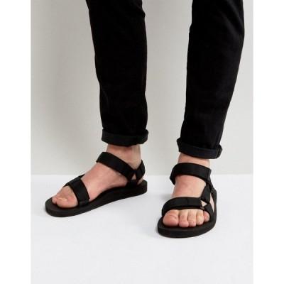 テバ メンズ サンダル シューズ Teva Original Universal urban tech sandals in black Black