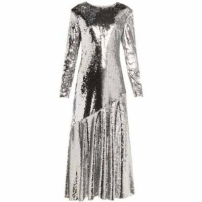 ラシル Racil レディース パーティードレス ワンピース・ドレス Gilda sequin-embellished dress Silver