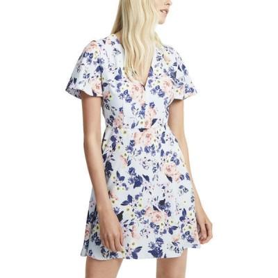 フレンチコネクション ワンピース トップス レディース French Connection Armoise Crepe Flippy Dress light dream blue multicolor