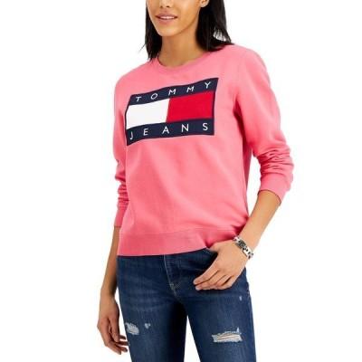 トミーヒルフィガー カットソー トップス レディース Flag Sweatshirt Rosebud