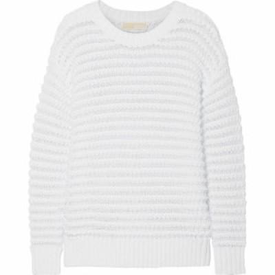 マイケル コース MICHAEL MICHAEL KORS レディース ニット・セーター トップス open-knit cotton-blend sweater White