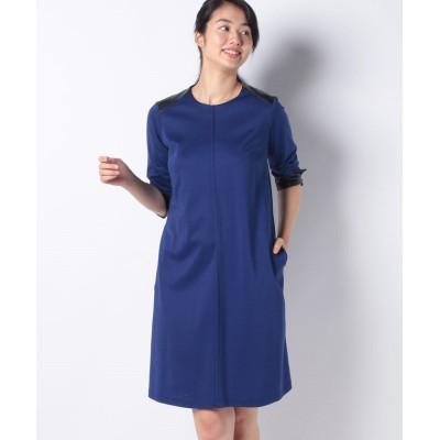 【ラピーヌ ブルー】 コンパクトポンチワンピース レディース ブルー 40 LAPINE BLEUE