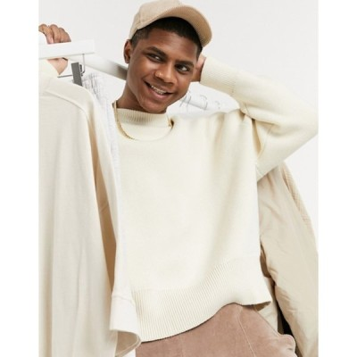 ウィークデイ メンズ ニット・セーター アウター Weekday John Sweater in White