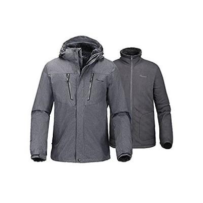 OutdoorMaster メンズ 3イン1 KIジャケット - フリースライナージャケット&フード付きの防水地獄と冬のジャケットら - 男性用(、)並行輸入品