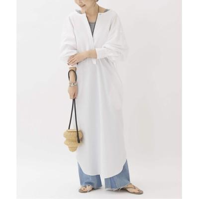 レディース プラージュ 【JANE SMITH/ジェーンスミス】PINTUCK DRESS SHIRTS ワンピース◆ ホワイト フリー