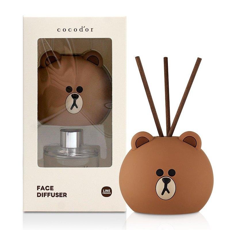cocodor-BROWN & FRIENDS造型擴香瓶50ml-熊大-榛果拿鐵