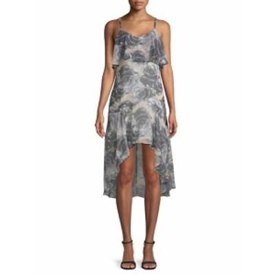 アリ&ジェイ レディース ワンピース Floral-Print Ruffled Dress