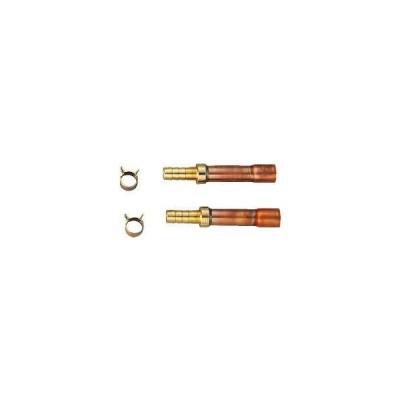 水栓金具 カクダイ 416-440 ペア耐熱管用ろう付け用セット 10A [□]