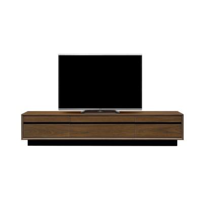 【日本製】木目が美しいウォールナット材のテレビ台(幅200cm)