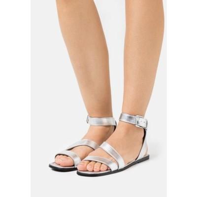レディース サンダル Sandals - silver