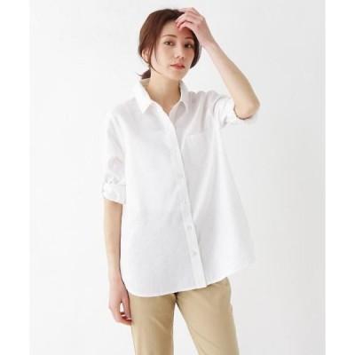 SHOO・LA・RUE / シューラルー 【M-LL/フレンチリネン】前あきベーシックシャツ