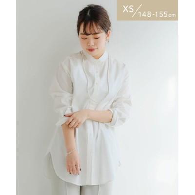 【グリーンレーベルリラクシング】 [ XS / H148-155cm ] [ 1_OF MINE ]★★FM バンドカラー シャツ <XS> レディース OFFWHITE XS green label relaxing
