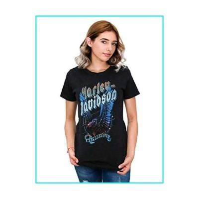 Harley-Davidson Womens Vengeance Eagle Acid Wash Black Short Sleeve T-Shirt (Medium)【並行輸入品】
