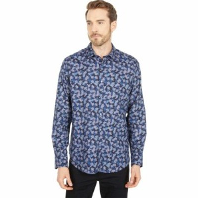ロバートグラハム Robert Graham メンズ シャツ トップス Novena Long Sleeve Woven Shirt Blue