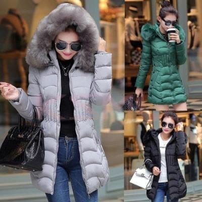 コート ダウンコート レディース 中綿 コート ダウンジャケット 秋冬 40代 カジュアル 中綿 ダウンコート 軽量 大きいサイズ ファーフード アウター 4色