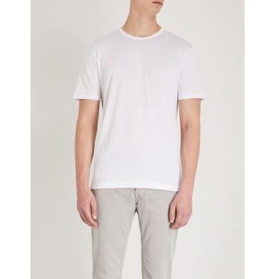 サンスペル SUNSPEL メンズ Tシャツ トップス Classic cotton-jersey T-shirt WHITE