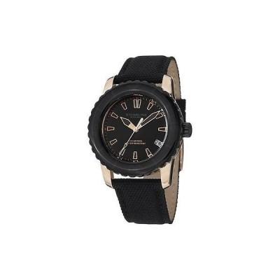ストゥーリング オリジナル 3265 02 レディース ベクター デート ブラック キャンバス ストラップ レディース 腕時計