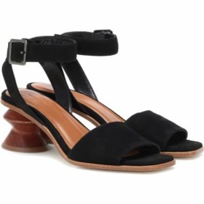 レジーナ ピヨ Rejina Pyo レディース サンダル・ミュール シューズ・靴 sonia suede sandals Leather Black