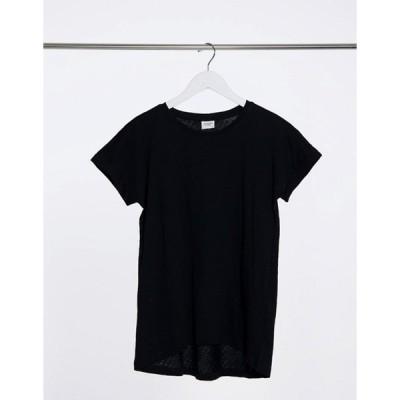 ジェイディーワイ レディース シャツ トップス JDY pastel short sleeve jersey top in black