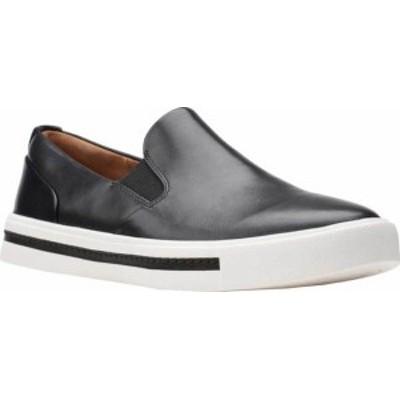 クラークス レディース スニーカー シューズ Un Maui Stride Slip On Sneaker Black Full Grain Leather