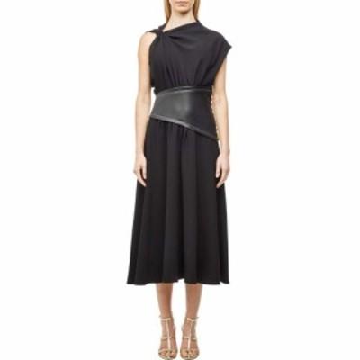 プロエンザ スクーラー Proenza Schouler レディース ワンピース ワンピース・ドレス Crepe Asymmetrical Dress with Leather Waistband