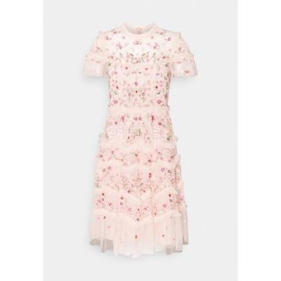ニードルアンドスレッド ワンピース レディース トップス ELSIE RIBBON MINI DRESS - Cocktail dress / Party dress - pink encore