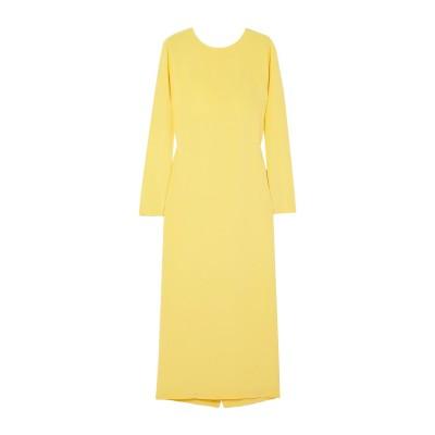 LA COLLECTION 7分丈ワンピース・ドレス イエロー 0 シルク 100% 7分丈ワンピース・ドレス
