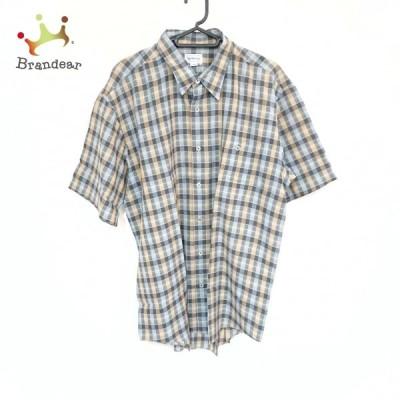 バーバリーズ Burberry's 半袖シャツ サイズLL メンズ 美品 - グレー×マルチ 新着 20210710